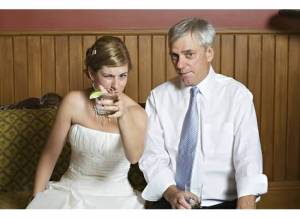 A family that drinks together has a very expensive wedding. Paid for by my dad.
